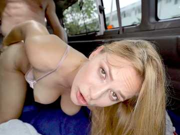 Sloan Harper: Blonde With Natural Tits Hops On The Bus