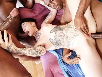 Nikki Hearts's Interracial DP Gangbang Tryout