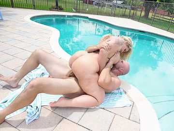 Ryan Conner Gets a Creampie by The Pool